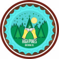 Drinking in the woods. badge logo