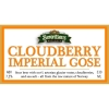 Cloudberry Imperial Gose label