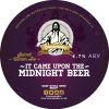 It Came Upon the Midnight Beer label
