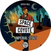 Space Coyote label