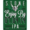 Stone Enjoy By 07.04.14 IPA label